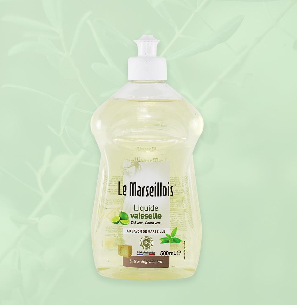 création étiquette création charte graphique le marseillois liquide vaisselle