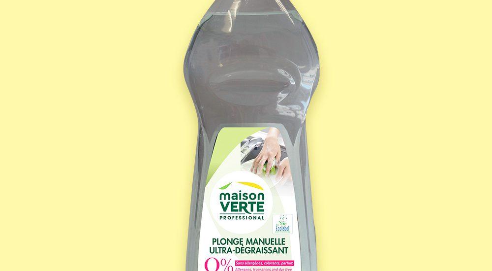 création charte graphique étiquette maison verte liqiude vaisselle