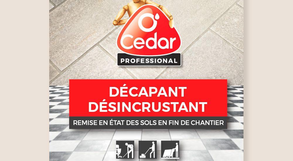Création des étiquettes O'cédar Professional